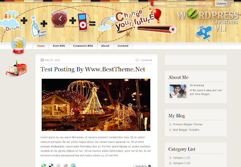 Christmas.v2.2 Mag Blogger Theme