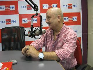Anupam Kher at  92.7 BIG FM Studio