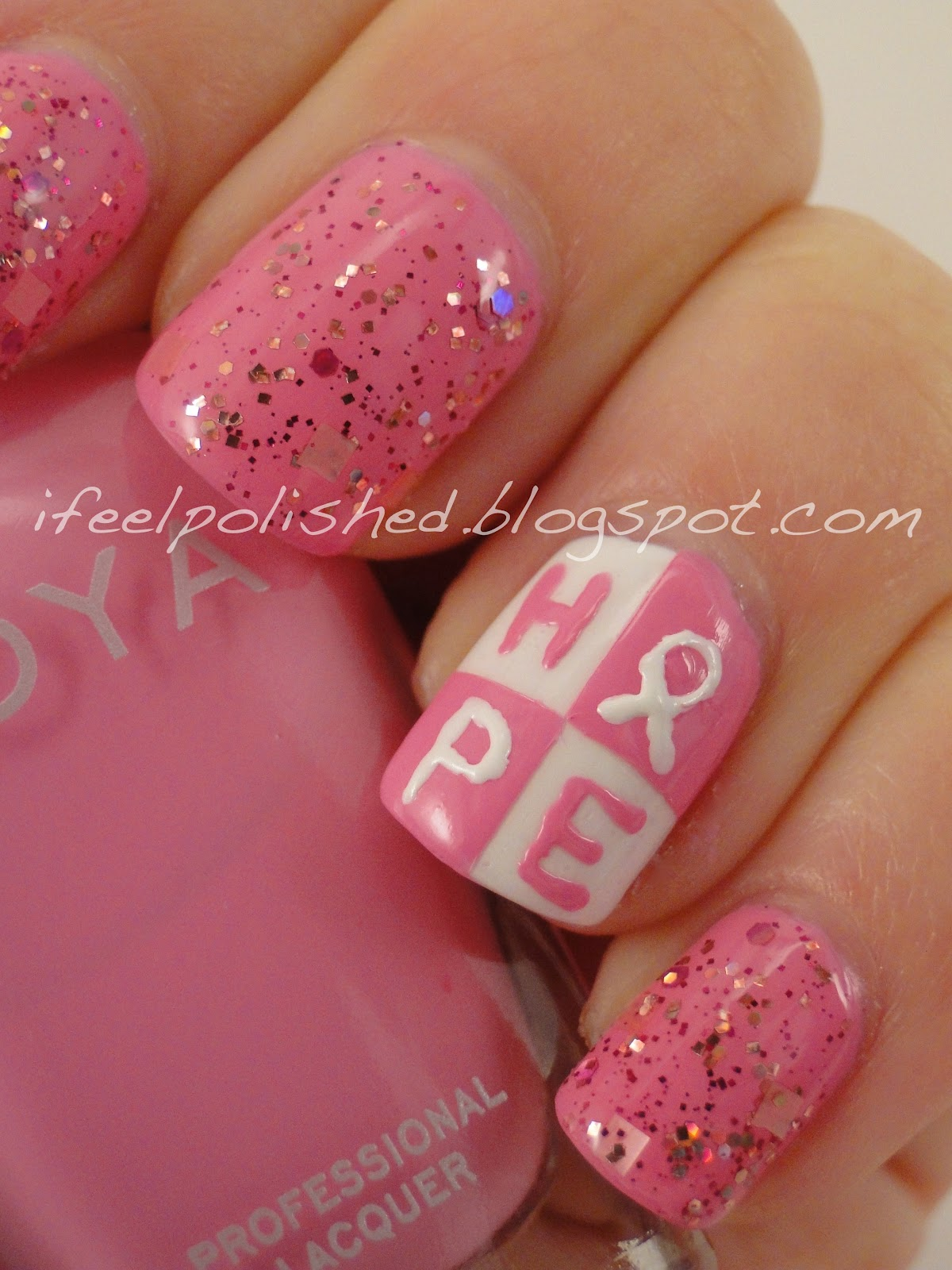 Feel Polished!: Breast Cancer Awareness Nails: Take Two