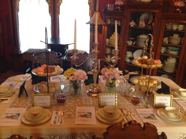 lines from linderhof: a downton abbey tea at rose haven