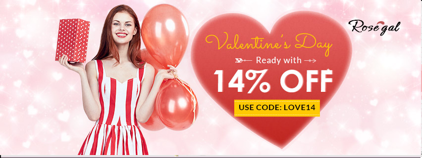 Valentines sale in Rosegal