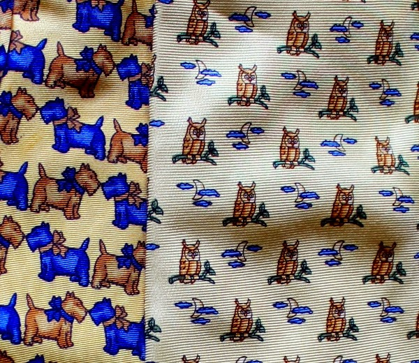 silk tie with scottie dogs