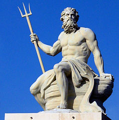 Greek God Poseidon.