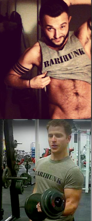 Look as sexy as Vasil Garvanliev and Andrew Garland in your own barihunk tee shirt