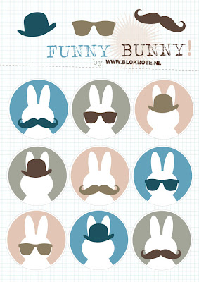 Funny Bunny Printable Nijntje Miffy Dick Bruna gratis Bloknote Snot bolhoedje zonnebril grappig kinderfeestje kinderknutselen 