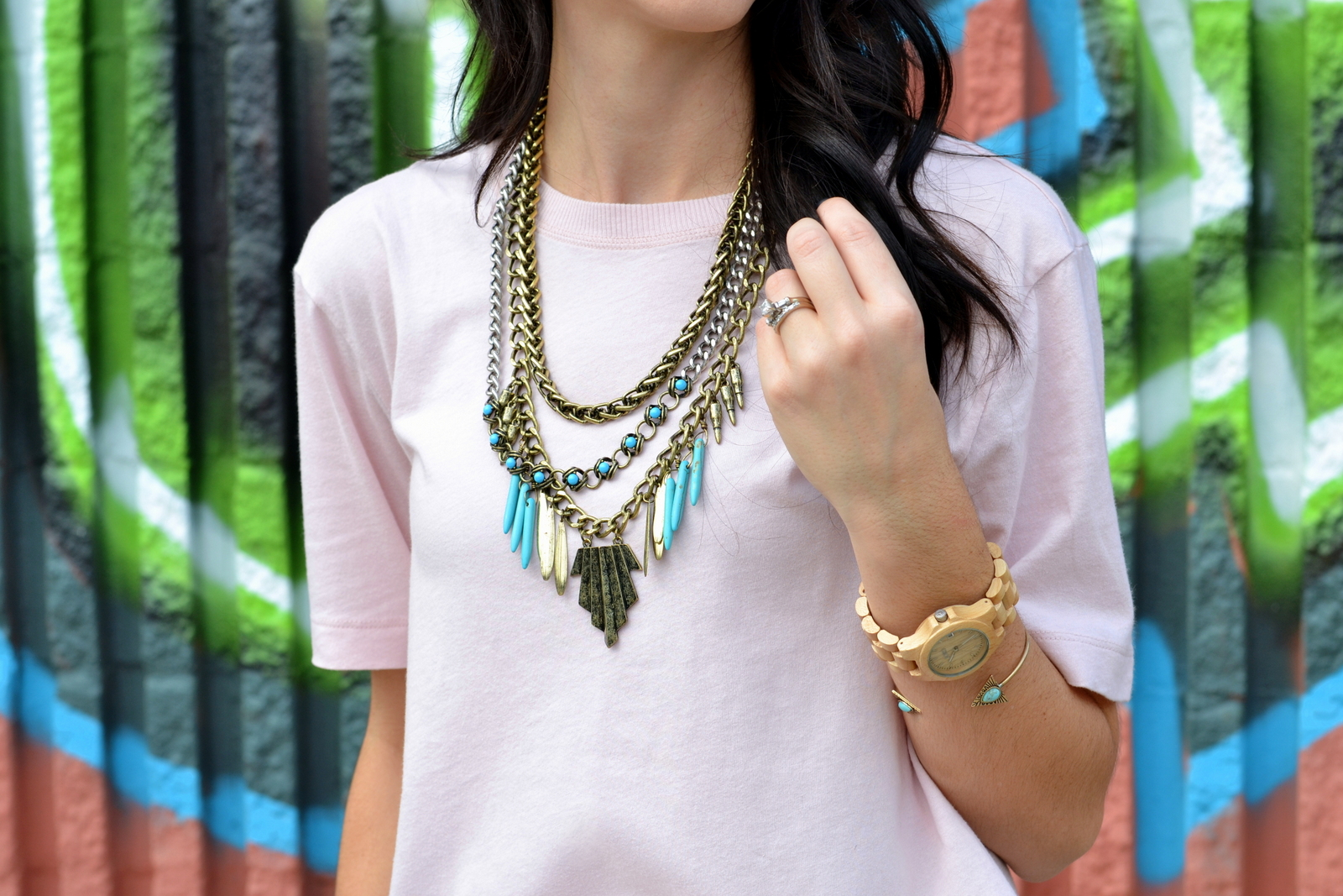 Statement Necklace, Boho, Aztec