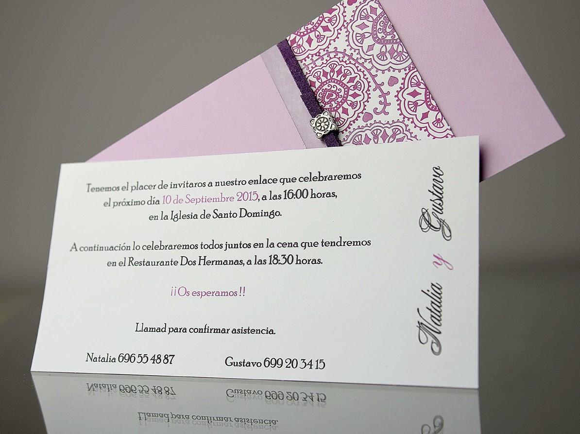 INVITACIÓN DE BODA 34933 CARDNOVEL