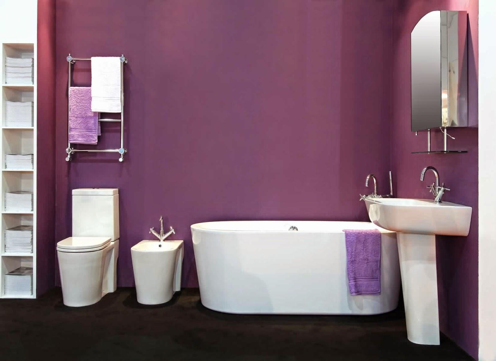 Decoracion Baño Morado:Diseños de baños en color morado – Colores en Casa