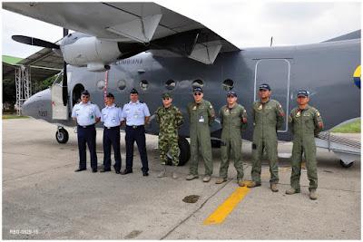CASA C212 de la Fuerza Aérea Colombiana con matrícula FAC1257