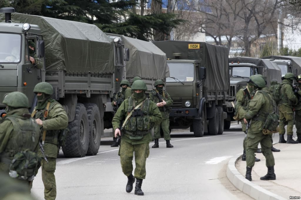 Russian troops at Crimea