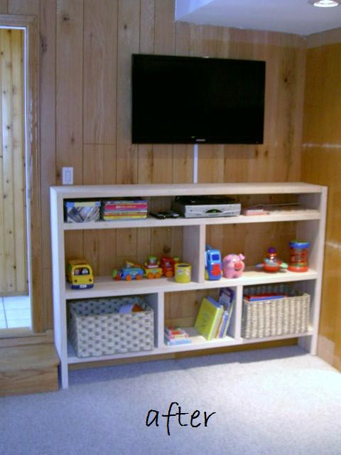 that s my letter diy built in playroom storage shelves