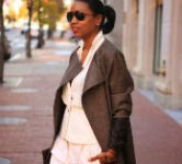 beaute j'adore diy, diy outerwear, transition coat, tweed, outerwear