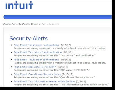 インテュイット社のセキュリティ・警告ページ:ESETセキュリティブログ