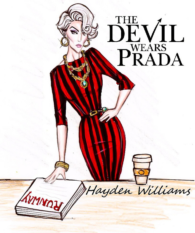 Fashion Book Cover Art ~ Hayden williams fashion illustrations 'the devil wears