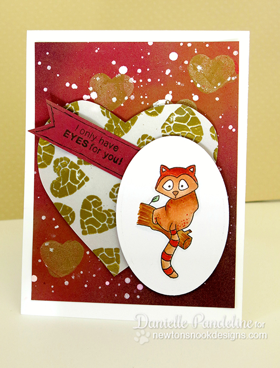 I Only have Eyes for You - Lemur Valentine Card by Danielle Pandeline | Newton's Nook Designs | Wild about Zoo Stamp Set