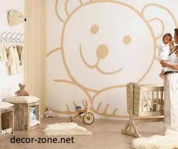 nursery decorating ideas, nursery wallpaper