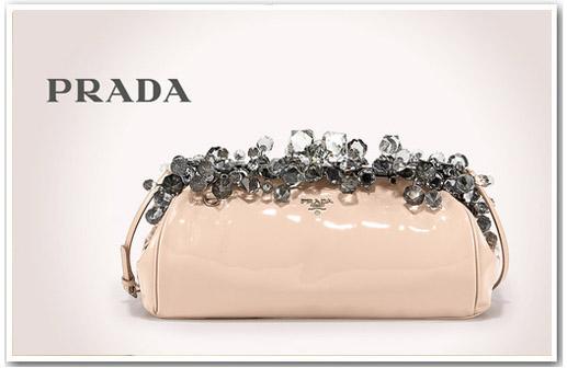 Secret Dream-World of A Fashion Muse: Prada Crystal Encrusted Clutch
