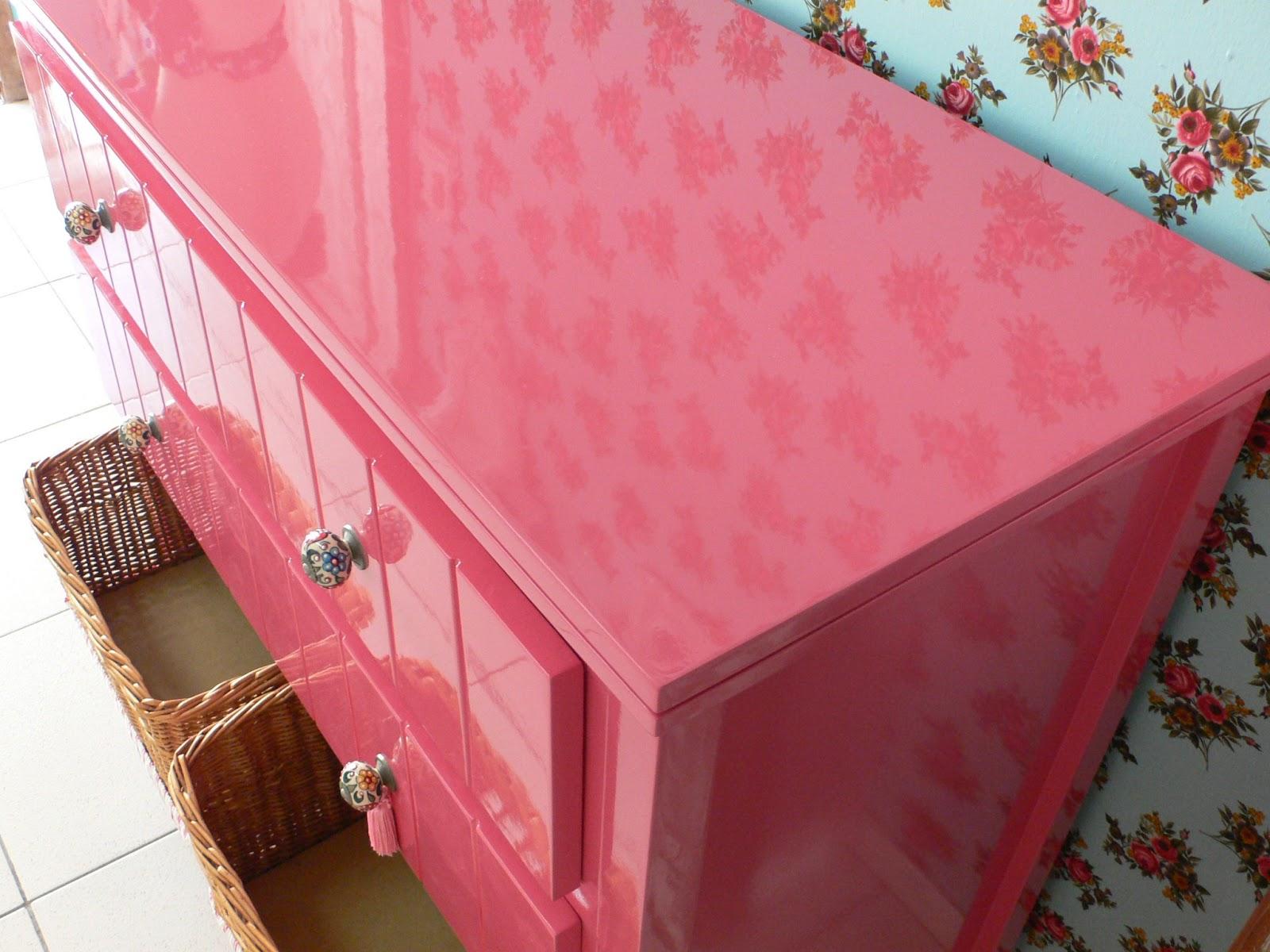 Ateliando Customização de móveis antigos Cômoda  ~ Quarto Rosa Goiaba
