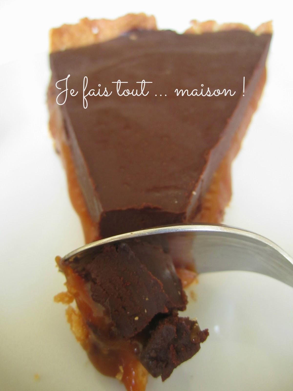 je fais tout maison tarte chocolat caramel. Black Bedroom Furniture Sets. Home Design Ideas
