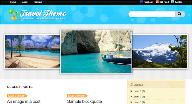 Travel Theme - Magazine Blogger Template