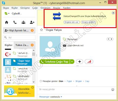 Skype Status Changer