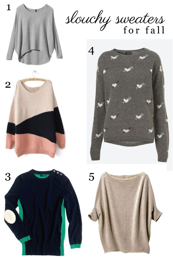 slouchy sweaters for fall (via Holly Would)