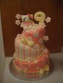 Hello Kitty Kayla's 9th birthday cake