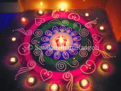 amazing rangoli design for diwali sanskar bharti rangoli