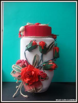 róże papierowe,recykling