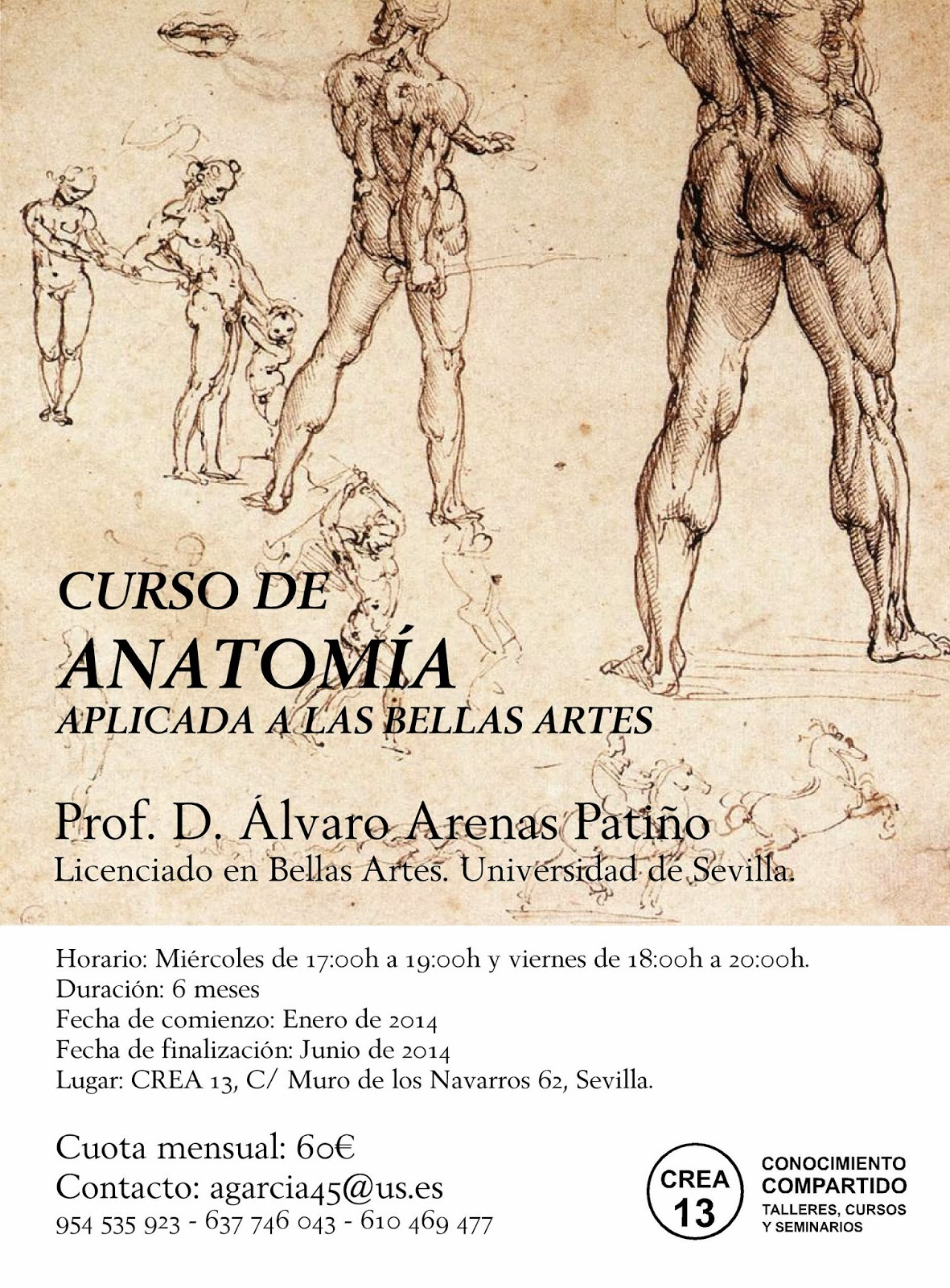 CREA 13. Clases de Dibujo, Pintura y Modelos del natural, Sevilla ...