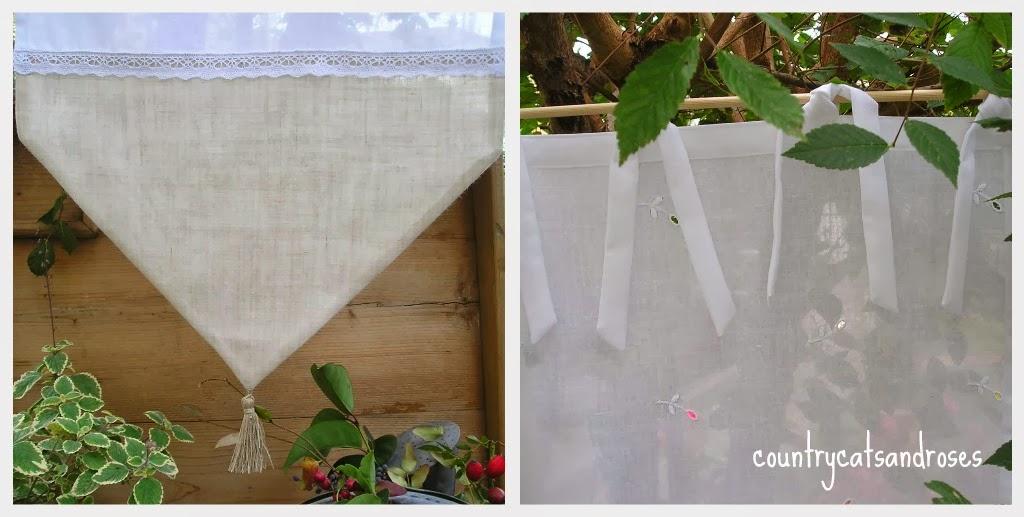 Tende Da Finestra Stile Country : Countrycatsandroses tendine country per piccole finestre