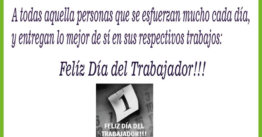Manualidades Beatriz: Felíz Día del Trabajador!!!!
