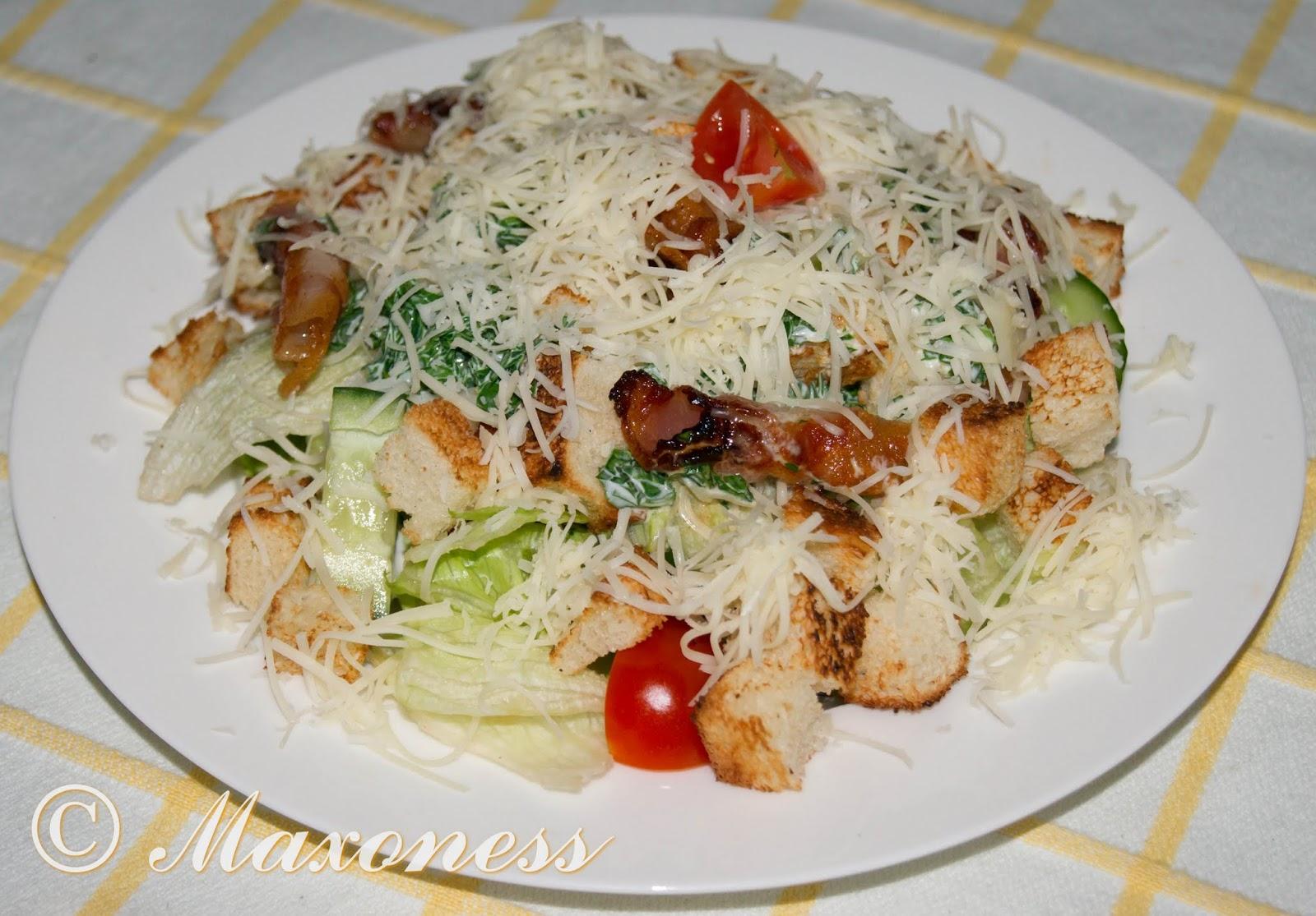 Салат с беконом и сухариками. Британская кухня