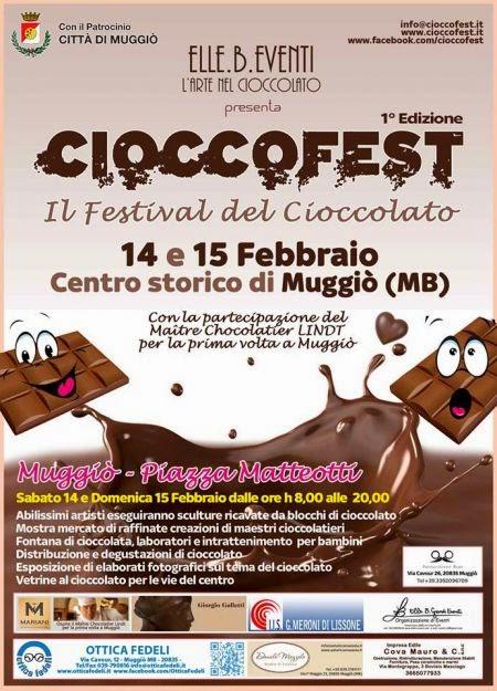 Cioccofest 14 e 15 Febbraio  Muggiò (MB)