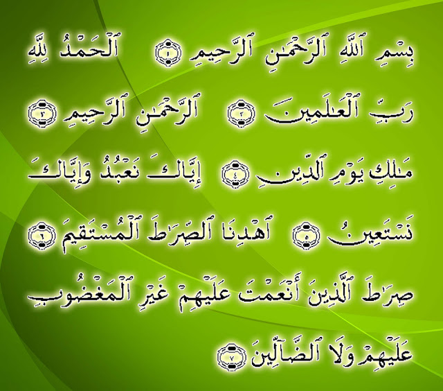 Fatiha The Opening Islamic Wallpapers