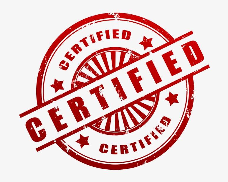 تصدیق کی مہر کی تصویر - Certified stamp image