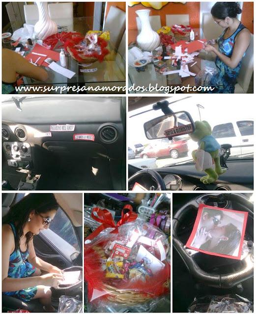 surpresa romântica no carro