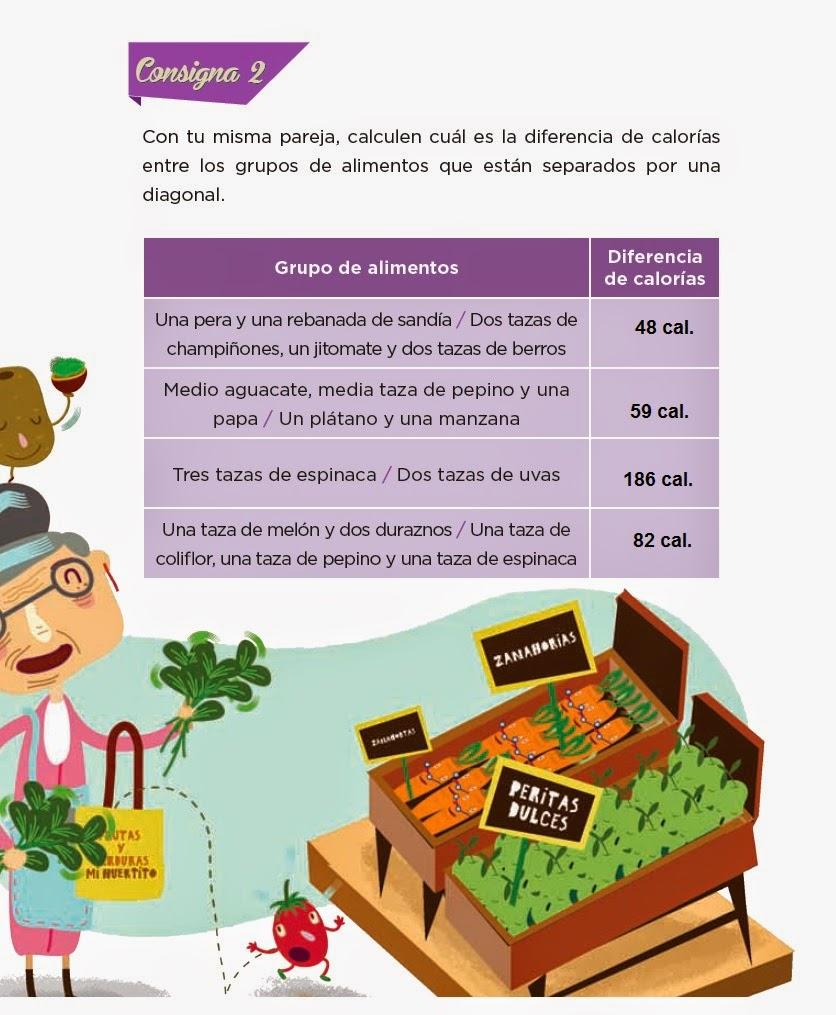 Respuestas De frutas y verduras - Desafios matemáticos 4to Bloque 5 2014-2015