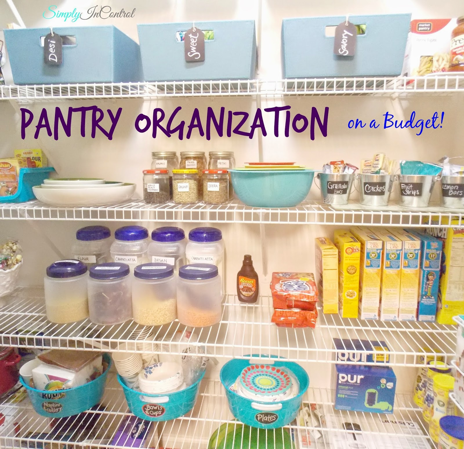 Dollar Store Kitchen Organization: Simply In Control: Pantry Organization On A Budget
