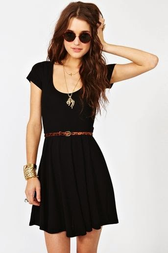 Crossed Skater Dress with beautiful black color