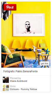 Yellow themed Pinterest Board