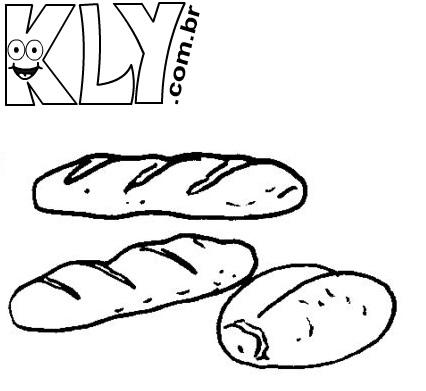 desenhos de pão para colorir desenhos para colorir