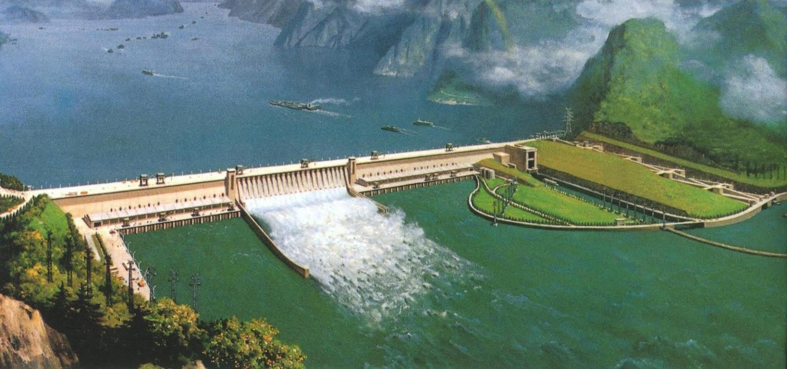 three gorges dam One can not talk about three gorges dam without mentioning the yangtze gorges the yangtze gorges lay in the upper reaches of yangtze river and form a common boundary for hubei province, shchuan province and chongqing city.