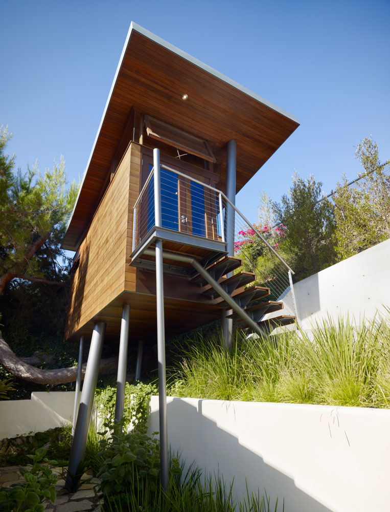 Beautiful modern treehouse design los angeles california for Home design los angeles