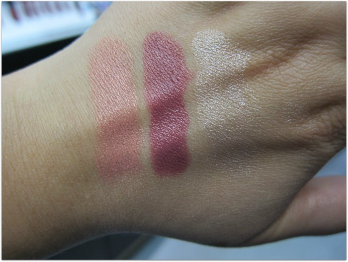 Smashbox LA Lights Blendable Lip and Cheek Colour Sticks Swatches