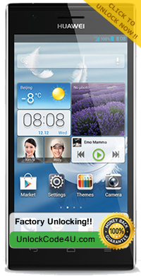 Factory Unlock Code for Huawei Ascend P2