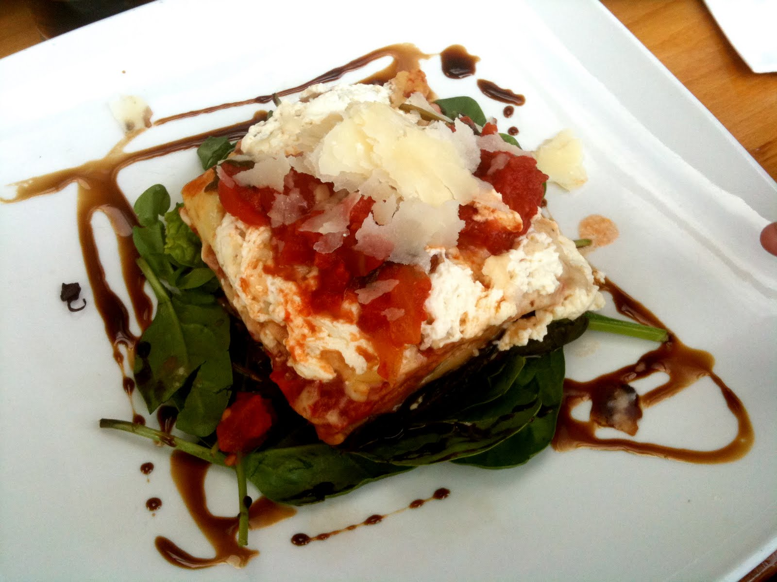 Vegetable Lasagne oven baked with Roasted Roma Tomatoes and Grana ...