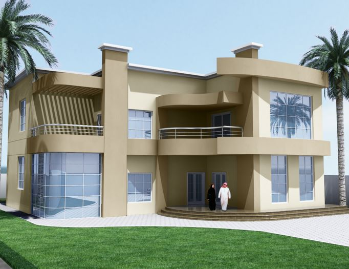 Modern residential villas designs dubai modern home for Best modern villa designs