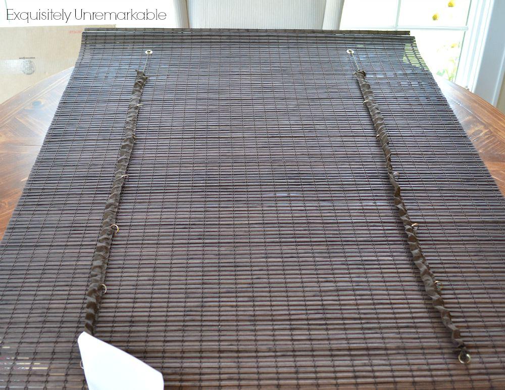 Bamboo roman shade liner