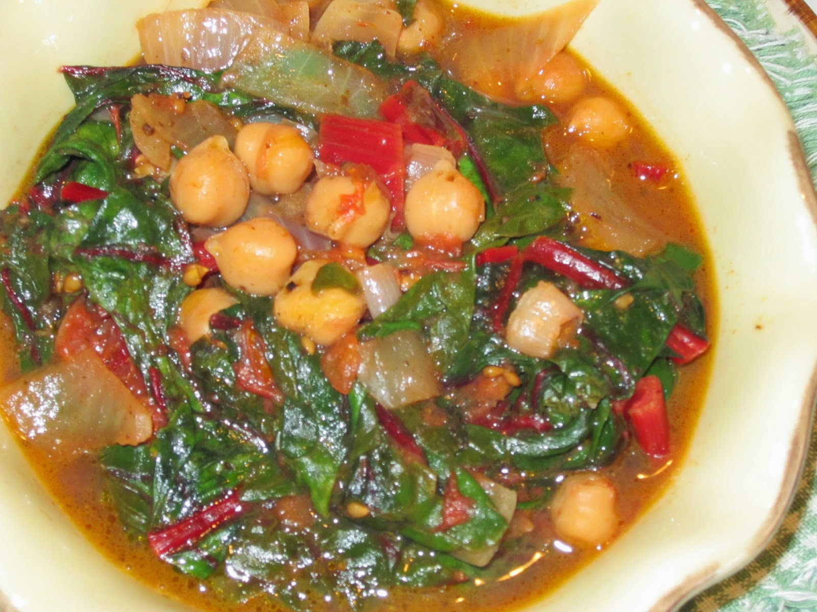 The Iraqi Family Cookbook: Swiss Chard and Chickpea Stew شوربة ...